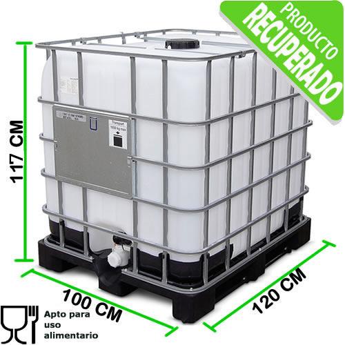 Tanque ibc 1000 litros para uso alimenticio tankes Tanque de agua 1000 litros